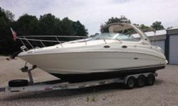 DPG..2005 280 Sea Ray Sundancer - Fresh Water Only!!Year: 2005Trailer: IncludedMake: Sea RayUse: Fresh WaterModel: SundancerEngine Type: Single Inboard/OutboardType: CruiserPrimary Fuel Type: GasLength (feet): 28Fuel Capacity: 76 - 100 GallonsHull