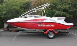 FDG.2006 Sea-Doo Speedster 200 310 HP 19?9?Sea-Doo Speedster 200 model combines twin Rotax 4-TECTM four-stroke technologiy for the highest horsepower on the market and the best acceleration in its class.Responsive handling and formidable horsepower make