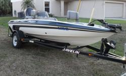 90 HP JOHNSON MOTOR, ELECTRIC TROLLING MOTOR TO GET UP CLOSE, GREAT FLATS FISHING BOAT, LIVE WELL AND PLENTY OF LOCKING STORAGE COMPARTMENTS , GO FISHING OR SKIING, LIKE NEW CONDITION, GARMIN FISH FINDER,GARMIN COLOR GPS, 1 MAIN BATTERY PLUS 2 GELL