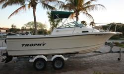 ,.,.,,THE BOAT HAS VERY, VERY LOW HOURS. ONLY 108 TOTAL ORIGINAL HOURS ON BOAT AND MOTOR!MERCURY SALTWATER SERIES 150 HP (108 HOURS)HYDRAULIC STEERINGISENGLASS ENCLOSUREGARMIN FISHFINDERVHF RADIOLENCO TRIM TABSRAW WATER WASH DOWNLIVEWELLTWO LARGE INDECK