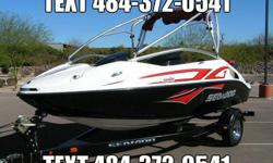 Here is a really desirable Sea Doo Speedster 200 Wake Edition with the optional 430hp Twin Rotax supercharged jet drive engines. We have just had this boat serviced and it has just over 100 hours on it.The boat is quite clean showing a little wear inside