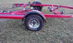 """This is a new old stock 2005 Shoreland'r roller trailer Never Pre-owned Never Titled.The trailer is model number LEXR29CBSW.The specs. are 2900 pounds carrying cap. 17'-19' hull length,17'4"""" max. transom to bow eye,21' max. length,overall width of trailer"""