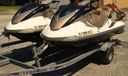 (2) 2006 Yamaha FX High Output Waverunners with a Tandem Load Rite Trailer. I am the original owner. The wave runners have a 1052cc 4-Stroke engine. They have adjustable handles, reverse, remote lock-unlock, and 3 people can ride it. Top speed is around