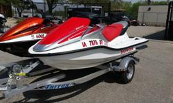 You are looking at 2 very nice Honda Aquatrax with very low hours and both are like new. The orange turbo has only 12 hrs. on it and the red non-turbo has only 28 hrs. Both of these boats are 3 seaters and have been stored in a enclosed heated garage and