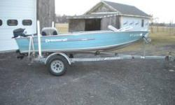 I have a 14ft prince craft aluminum boat with 2 motors and an EZ loader trailer for sale. The two motors are a mercury 20hp that runs good and a mercury 9.9hp that runs good as well and has a new prop as of july 2011. The trailer is in good shape with