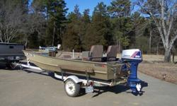 14 ft. Landau boat on a 16ft trailer,25hp electric start,carpet,livewell,depth finder and trolling motor. 479-438-1568
