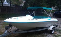Good condition Sea Rayder with trailer, 14 foot jet boat, 90HP version. Very dependable mercury sport jet. Jet drive just gone through and serviced. Comes with bimini top. Only issue is the reverse flap cable needs replacing, very simple