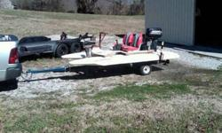 2001 CraigCat with 25 HP Johnson and trailer. Bought boat 5 years ago. Goes about 25 mph and is very good on gas. Has new water pump and starter. Has removable top. Took these pictures today with engine running...if you look close you can see the water