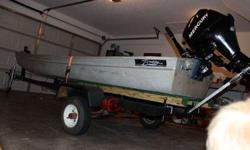 12ft jon boat with brand new trolling motor, fish finder, trailer, AND a 2012 Mercury 9.9 motor. Call or email Courtney for more details or pictures (click to respond) orListing originally posted at http