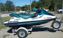 For sale is a great running 1997 Sea Doo Bombardier GTX with under 100 hours-Motor was replaced at 60 hours-Always garaged and covered-Boarding step-Hydro turf flooring$2300Call/ email with any questions