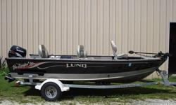 2002 Lund Pro Angler 16' 50 HP Suzuki. Take a look at this gorgeous fishing boat, built by Lund boats.This boat is the Pro Angler V16 model with a 2002 Suzuki fourstroke 50 hp. fuel injected, tiller handle with tilt, trim and electric start. This boat has
