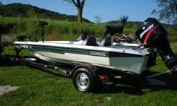 You are looking at one of the nicest used Bass Boats you can find. It truly is in great condition. The gel-coat and metal flake finish shines like new! This 171 Champion Bass Boat rides and drives great! The hull has only a few, very light scratches in