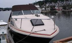 Currently docked at a Marina, The seller is looking to downsize, The boat's bottom has been painted yearly and the hull waxed yearly, The canvas top and plastic window inserts are in great shape with functional snaps and zippers, The boat was repowered in