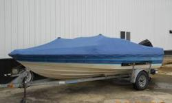 Great boat for cheap fun all summer! 1988 Bayliner Capri with reliable 125 Force motor. Plenty of power for skiing, tubing, wakeboarding and other water sports. It has a new custom made cover with a rope so you can tow it with the cover on. New floor and