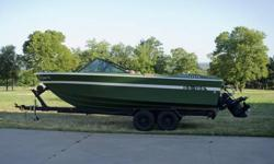 Vintage Pampered 1971 Slickcraft SS-195 Ski Boat - 18 Ft., 165 horsepower, Mercury inboard outdrive. Very good condition, everything works - ready for the lake. Good trailer tires with bearing buddy fitting, extra propeller, anchor, dock bumpers, oar,