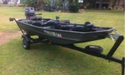 twelve feet. Aluminum boat with 25 horsepower nissan motor. Motor was just completely maintenance and is ready to hit the water. Would consider trade for aluminum tig welder. Call or text for more information 337-654-2979Listing originally posted at http