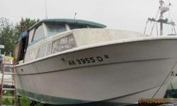 1974 30' tollycraft boat twin 350 chevys V-drive , engines run, good prodject boat, sleeps six, fridge,stove, bathroom and shower ,needs some interor work,the boat dry docked in valdez, $ 2,500 obo or possable trade ,can call or 328-8547Listing originally