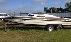 great engine and out drive, lots of power, I removed the interior ( have it all and good condition) to replace the floor with new Marine plywood and fiber glassed it in, very solid. you will need to re-install the interior and replace the shift cables and
