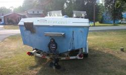 19Ft Bowrider 170 Hp Mercruiser I/O Trolling plate Down Rigger mounts Open Bow EZ Load trailer Starts right up, I have the ears for the prop so you can hear it run and see it work. Needs a good cleaning but a solid boat.