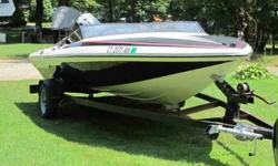 135 hp mercury ob, extra props. fast. Great fun, tubing, skiing, cruising. Fully equiped anchor, life jackets etc. Seats 5. Price $2500 or bo