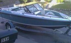 Comes with trailer needs a starter has inboardoutboard motor. I can throw in a kneeboard and maybe a tube. Only selling because we no longer have a truck to tow. Price can come down some. Other than the starter it runs well