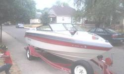 I have a rinker boat 4 sale with engine issues, @ worst it will need a new 1, but the interior, body, trailer, & name is worth the $2900.00. If U r looking 2 wheel & deal please dont waste your time. 6 speaker cd player, seats 8 ski's, foats, sun visor &