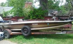 Brown in color great shape. Mercury 200 runs great. curently needs bottom carborator rebuilt. Has been flooding occasionally due to that. Recent carpet redo very nice boat and trailer. call 6626094164. i do not check email daily