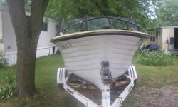 1971 crestliner charger v 6 18' boat for sale. includes trailer, cover, extra prop and extra plug.and all the paperwork . all it needs is a driver