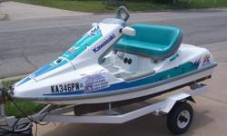 1991 Kawasaki Sport Cruiser Jet Ski ****SPECIAL****** Low hours ridden *** SIDE BY SIDE MODEL*** Blue-green and White 650cc Kawasaki engine This Comes with Trailer and cover. 620-343-8988
