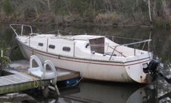 1978 Chrysler 26 foot sail boat, 2006 Tahatsu (By Nissan) 5 horse four stroke outboard, No trailer. Sleeps four, has head and galley.Is in the water at Sandy Creek off county road 20 in Baldwin county. The mast is off of it, but I have Mast and sails.
