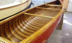 A very rare Old Town Canoe, almost 100 years old and beautifully restored, with new canvas, recaned seats, woodwork is 99% original and all newly refinished. Old Town's build record states that this boat was shipped to Ely, Vermont in July of 1919. It's