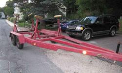 Custom built sailboat trailer, built for 28' keel boat. Adjustable poppet stands. All in excellent condition. New Tires, Electric Brakes, Runaway Brake. Call or e-mail (click to respond)Listing originally posted at http