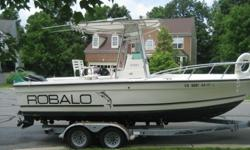 ROBALO 21 FT CENTER CONSOLE,Big and rugged, unsinkable/foam-filled deep-V center console powered by a strong running 1998 Mercury150 HP Offshore 2-stroke with hydraulic steering,. boat is extremely nice, SHOWS QUALITY THROUGH AND THROUGH , STAINLESS STEEL
