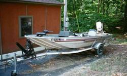 1984 LOWES 16 ft X 5 ft CATCHER PRO ALUM CRAFT BOAT WITH 50HP JOHNSON VRP MOTOR W/TILT & TRIM, four SEATS, MINNKOTA EDGE 40 lb THRUST TROLLING ENGINE, B/M HAUL RITE TRAILER.EXCEPTIONAL CONDITION. CALL (502) 445-3128Listing originally posted at http
