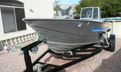 This is a used Gregor boat with Trail-Rite trailer. The boat is a 2002 but was purchased new by me in 2004. I upgraded the trailer to one with full sized wheels. It tows like a dream, and you could take it on longer trips with no worries. Since buying it