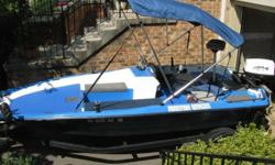 For sale, a clean, solid little bass boat. A 1989 16' American Boats with a Johnson 30 horsepower outboard motor on the back. Comes with the trailer. Minn Kota trolling motor on the bow. 2- Eagle Fish Mark 320 Fishfinders; one at the driver's seat; one at