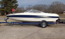 You are viewing a Beautiful 2005 Stingray 185 LS Bowrider 25th Anniversary Edition. This one-owner boat is in very good condition and has been very well maintained. The boat has only 84 hours and is capable of speeds up to 50 mph. The hull is in good
