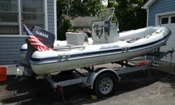 1999 Joker Coaster Rigid Bottom Inflatable 470 with a 1999 90 HP Yamaha with power tilt trim and single axel 2006 Performance Trailer. This is an extremely seaworthy vessel for its size. I have owned many boats including several Boston whalers and Sea