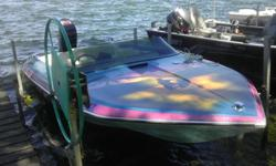 Very Clean, fast boat that great for skiing, tubing or just skimming across the water on a sunny day. Thisboat has a customized paint job and has a trailer with new tires and lifetime tabs.