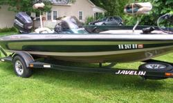 I have for sale a 2001 Javelin (renegade) bass boat 19ft-javelin trailer-150 Johnson engine-Hydraulic Steering-Hot Foot-keel guard--2#250 Garmin Graphs-1 mobile GPS Unit (mounts front & Console) 1 flasher unit-70 lb. Minnkota tolling Motor-Pro-Air