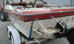 1884 19FT CUDDY CHAPARRAL V8 MERCURISER WITH TANDEM AXLE TRAILERTHE BOAT STARTS RUNS AND SHIFTS AS IT SHOULD SWIM PLATFORM - SST PROP - POP OUT WIND SCREENVERY DEEP V HULL - RIDES VERY NICEMARINE RADIO - COMPASS THE BOAT HAS SOME STRIP TAPE MISSING FROM
