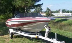 1987 GLASTRON/CARLSON. NEW INTERIOR. BOAT COVER, TUBES AND ROPES. NEEDS NOTHING. CALL JOE 608 548 5138