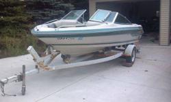 6 passenger Sea Ray Seville with 4 cylinder engine. No time for it. Runs fine. Has always been winterized. New tires were just put onto trailer. Will come with skis, vests, knee board. Contact or email me at (click to respond). CraigListing originally