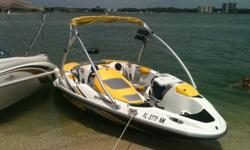 This boat runs great!New jet pump assembly and aftermarket Solas 4 blade 14/22 blueprinted impeller...From Impros!Boat has new 260 hp supercharger to match the injectors. New trailer wheel bearings.new HYDRO-TURF TRACTION MATS.........NEW FACTORY