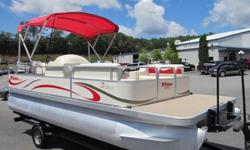 2006 Triton Summit 208 Silver Pontoon Boat with Mercury 60 HP Bigfoot EFI Four Stroke Outboard with Single Axle Trailer (Although this auction does include the trailer, this 8522 can be purchased without the trailer