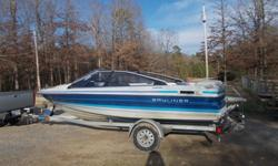 This boat is a 1989 Bayliner Capri 1770 with a 95 HP Force motor. Inside and out has been well cared for and there are no major damages. Plenty storage space can be found under all the cushions.The 4 middle seats lay flat for resting or premium tanning!