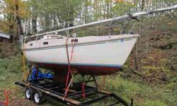 Sparkmen Stevens design built by Mcleod Bros. Main, jib and storm jib. 6hp long shaft Evinrude. Custom cradle. Trailer not included in price, but available or can deliver for expenses. A well built safe packet cruisor. Great in heavy water. Fresh water