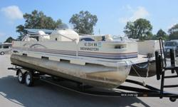 This is a super nice 22 FT Pontoon Boat. This is for the BOAT ONLY. I don't own a trailer and borrowed this one. I have personally owned this boat for over 5 years. The 50 HP motor is Flawless and always runs perfect. This was bumped against the dock (3