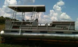 Pontoon - 1988 Sanpan w/50hp oil injected Johnson, good shape -- no trailer $2950-- East Conway Area -- for appointment or questions call 501-350-8586 leave message.