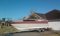 Project boat. Needs interior redone, Has Mercruiser 5.7 and Alpha drive. No Trailer. I can pull it to the water to put on your trailer if you'd like.